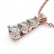 Three Graduated Diamond Trellis Set Journey Pendant