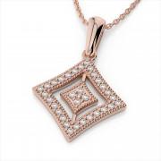 Milgrain and Diamond Vintage Inspired Pendant