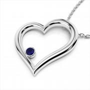 Bezel Gemstone Heart Pendant