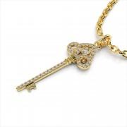 Fleur De Lis Diamond Key Pendant