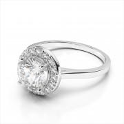 Plain Shank Floating Halo Engagement Ring