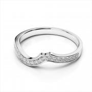 Curved Diamond Wedding Band (AMR3401)
