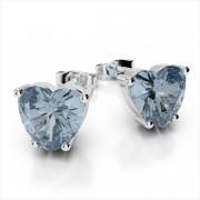 Heart Shaped Gemstone Earrings