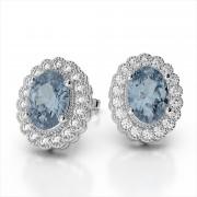 Oval 6x4mm Gemstone and Diamond Ring
