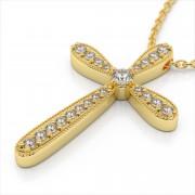 Diamond Milgrain Cross