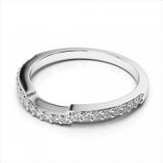 Curved Diamond Wedding Band (AMR3230)