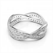 Crisscross Diamond Eternity Band