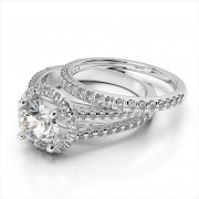 Diamond Prong Set Wedding Band