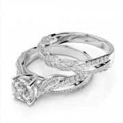 Diamond Bypass Wedding Band