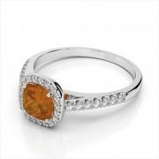 Halo Cushion 5mm Gemstone Ring