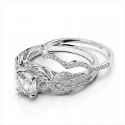 Scalloped Diamond Wedding Ring