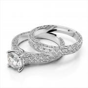 "Diamond Wedding Band with ""S"" Design"