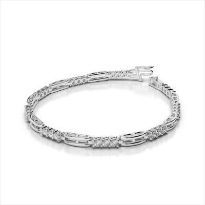 Shimmering Triple Diamond Bracelet