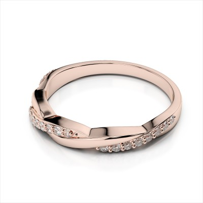 Simple Bypass Wedding Band