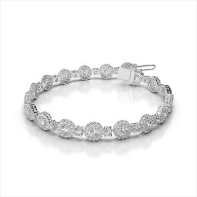 Round Link Diamond Bracelet