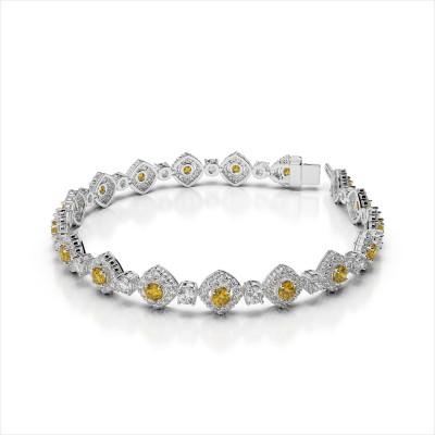 Diamond and Yellow Sapphire Bracelet