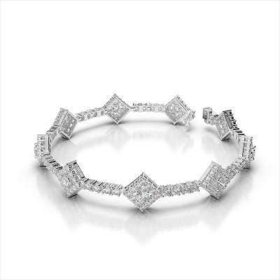 Diamond Halo Link bracelet