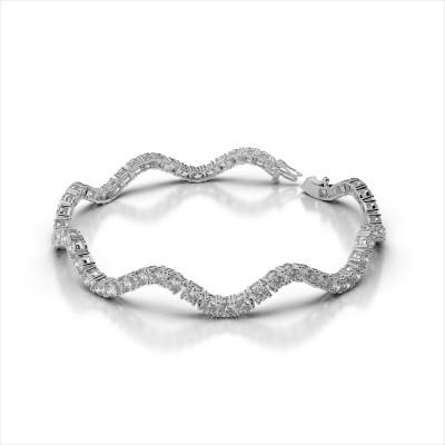 Curved Diamond Tennis Bracelet