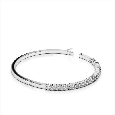 Shared Prong Diamond Bangle Bracelet