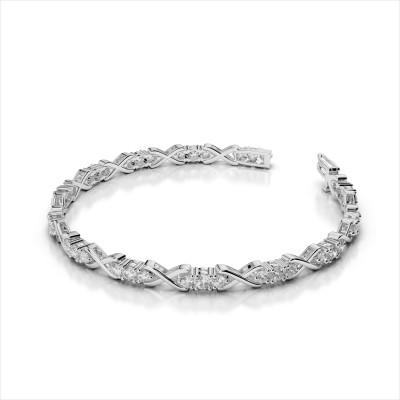 Triple Diamond X Link Bracelet