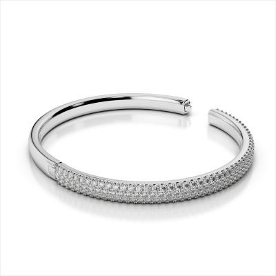 Three Row Bangle Bracelet