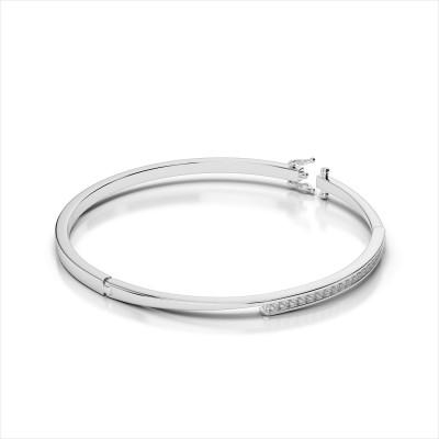 Channel Diamond Bypass Bangle Bracelet