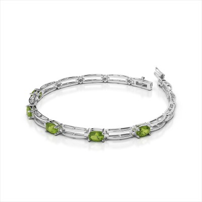 Double Bar 5 Gemstone Bracelet