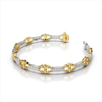 Diamond Bracelet With Fleur de Lis Links