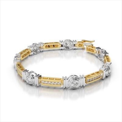 Channel and Bezel Set Fashion Diamond Bracelet