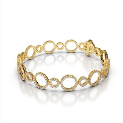 Alternating Diamond Circle Link Bracelet