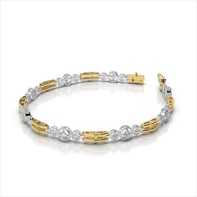 Three Across Double Bar Link Diamond Bracelet