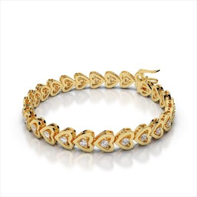 Amouria Diamond Heart Bracelet