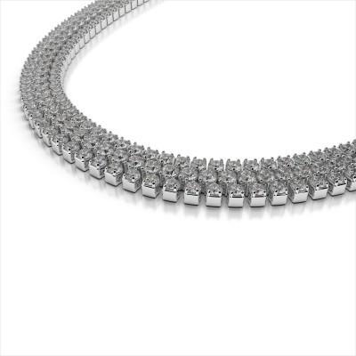 Three Row Diamond Necklace