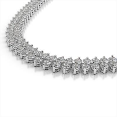 2 Row Slanted Diamond Necklace