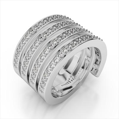 Diamond Studded Spiral Ring