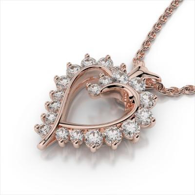 Fancy Diamond Heart Pendant