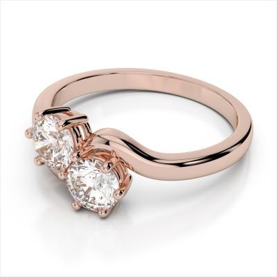 Double Diamond Bypass Ring