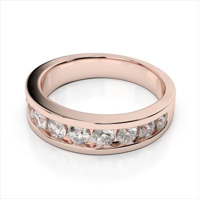 Channel Set Round Diamond Band (AMR3047)