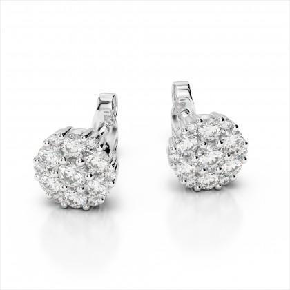 Captivating Diamond Cluster Earrings