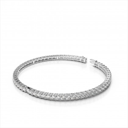 Eternity Diamond Prong Set Bangle Bracelet