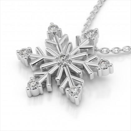Amouria Diamond Snowflake Pendant
