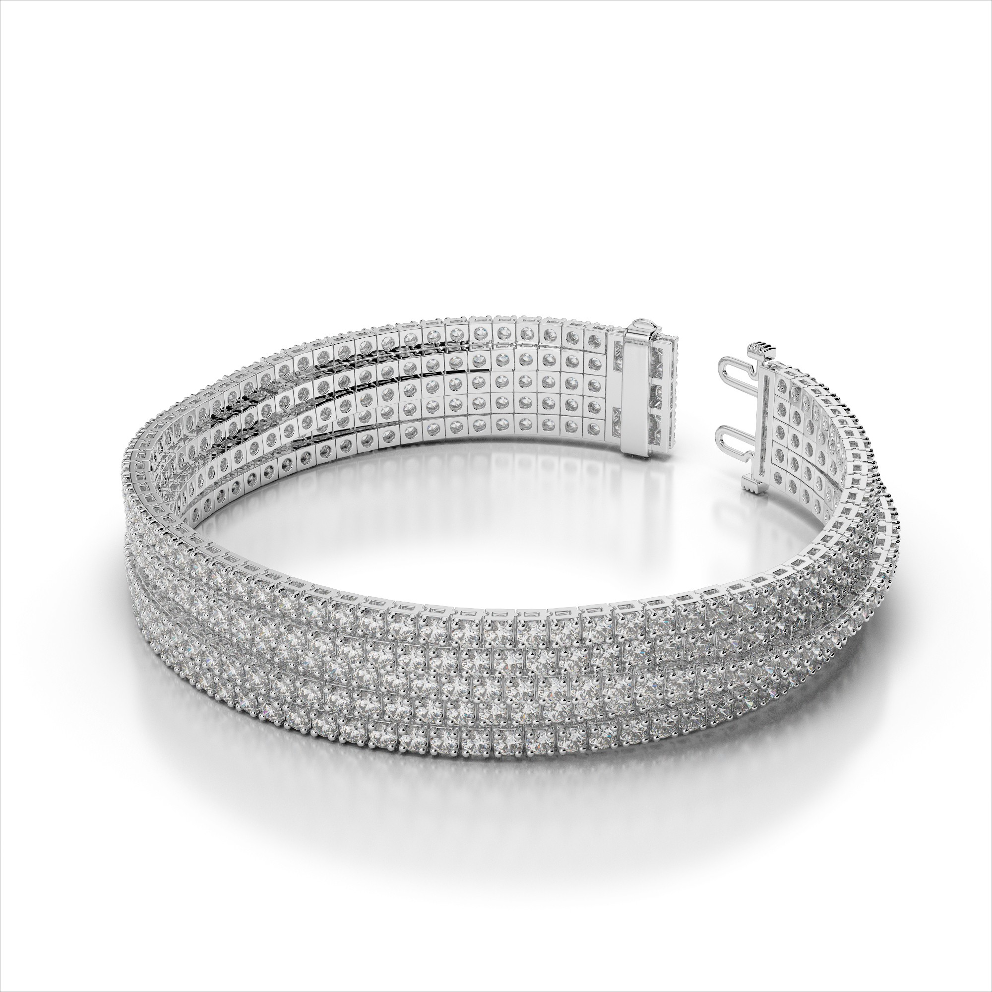 Five Strand Flexible Diamond Tennis Bracelet