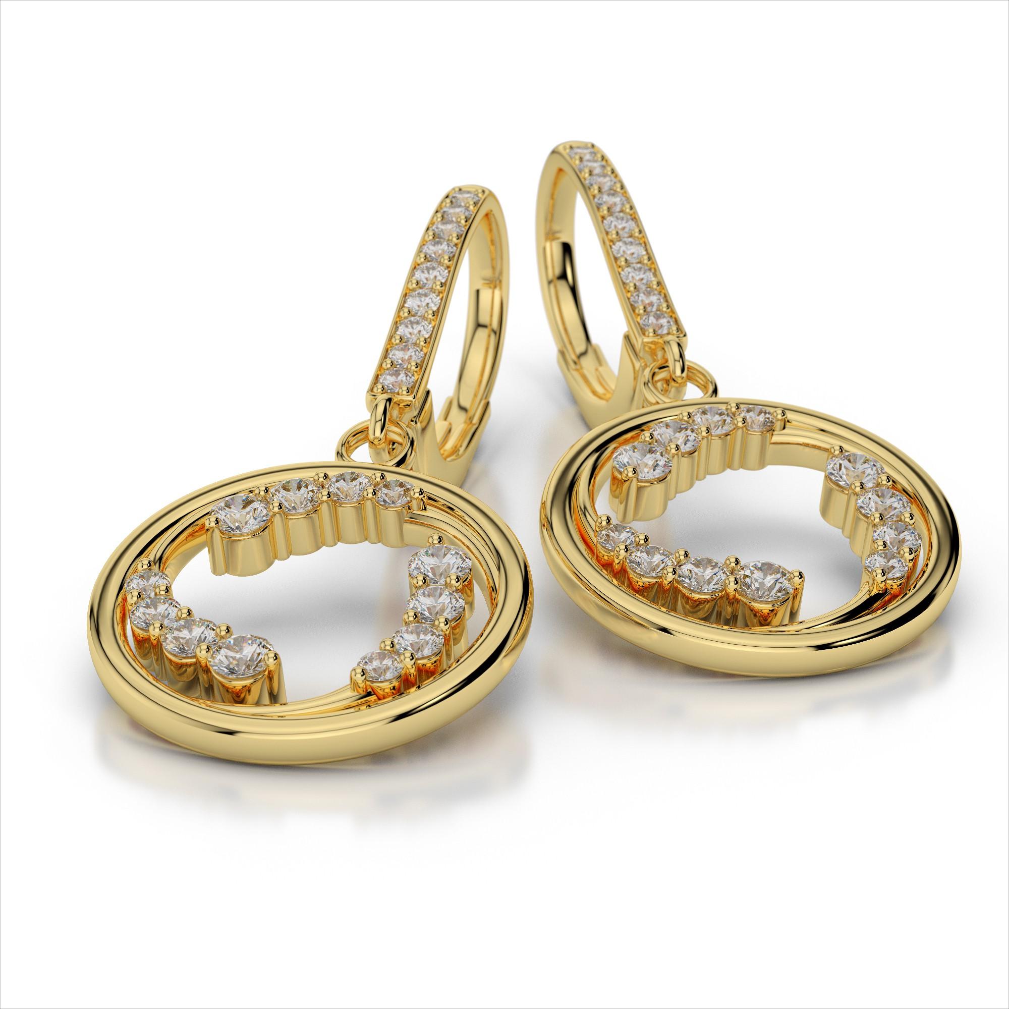 Diamond Wave Earrings