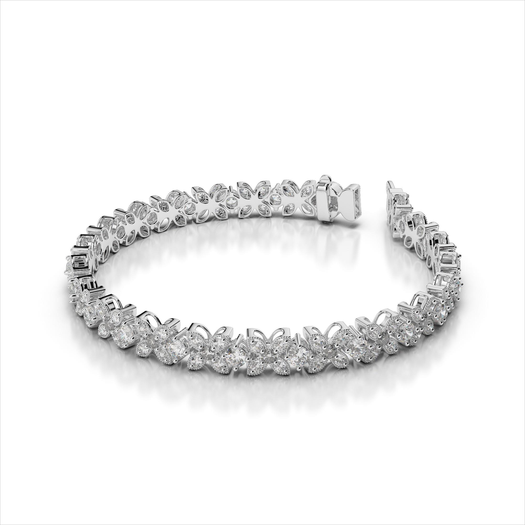 Flower Diamond Bracelet