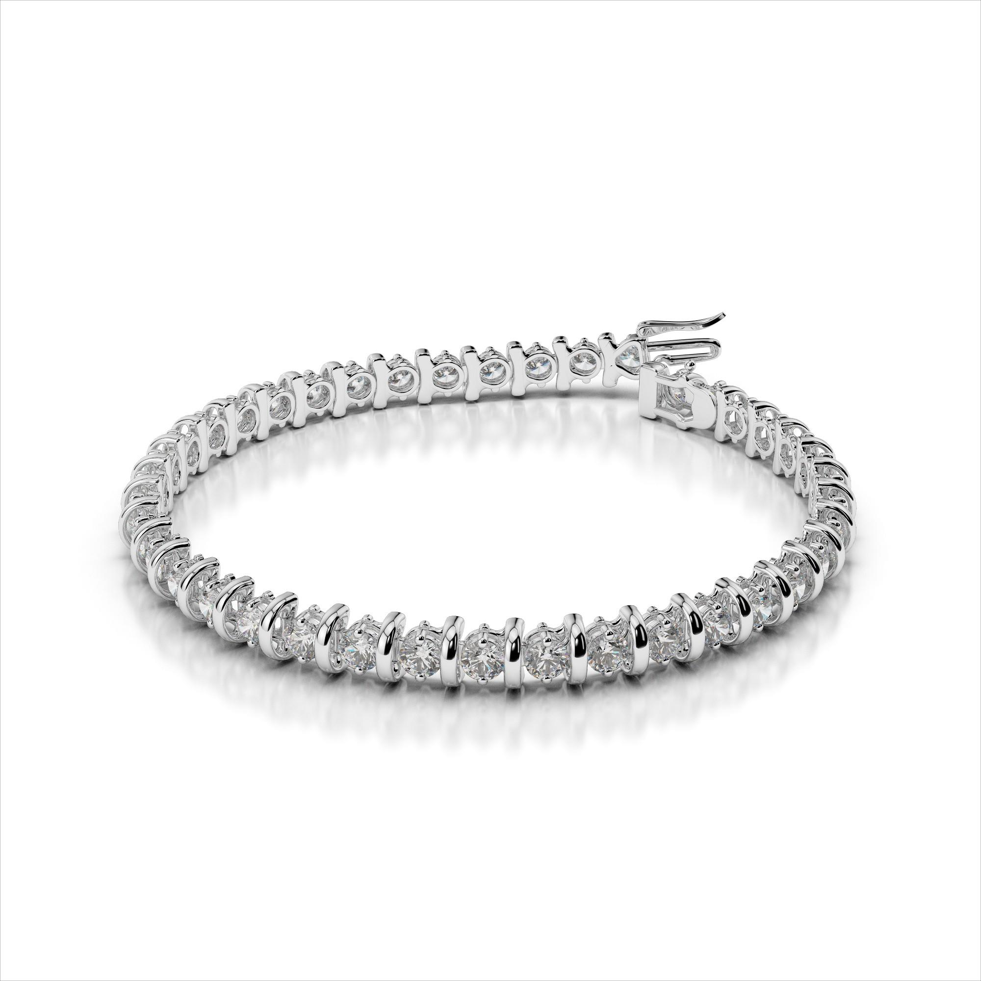 Classic Curve Link Diamond Tennis Bracelet