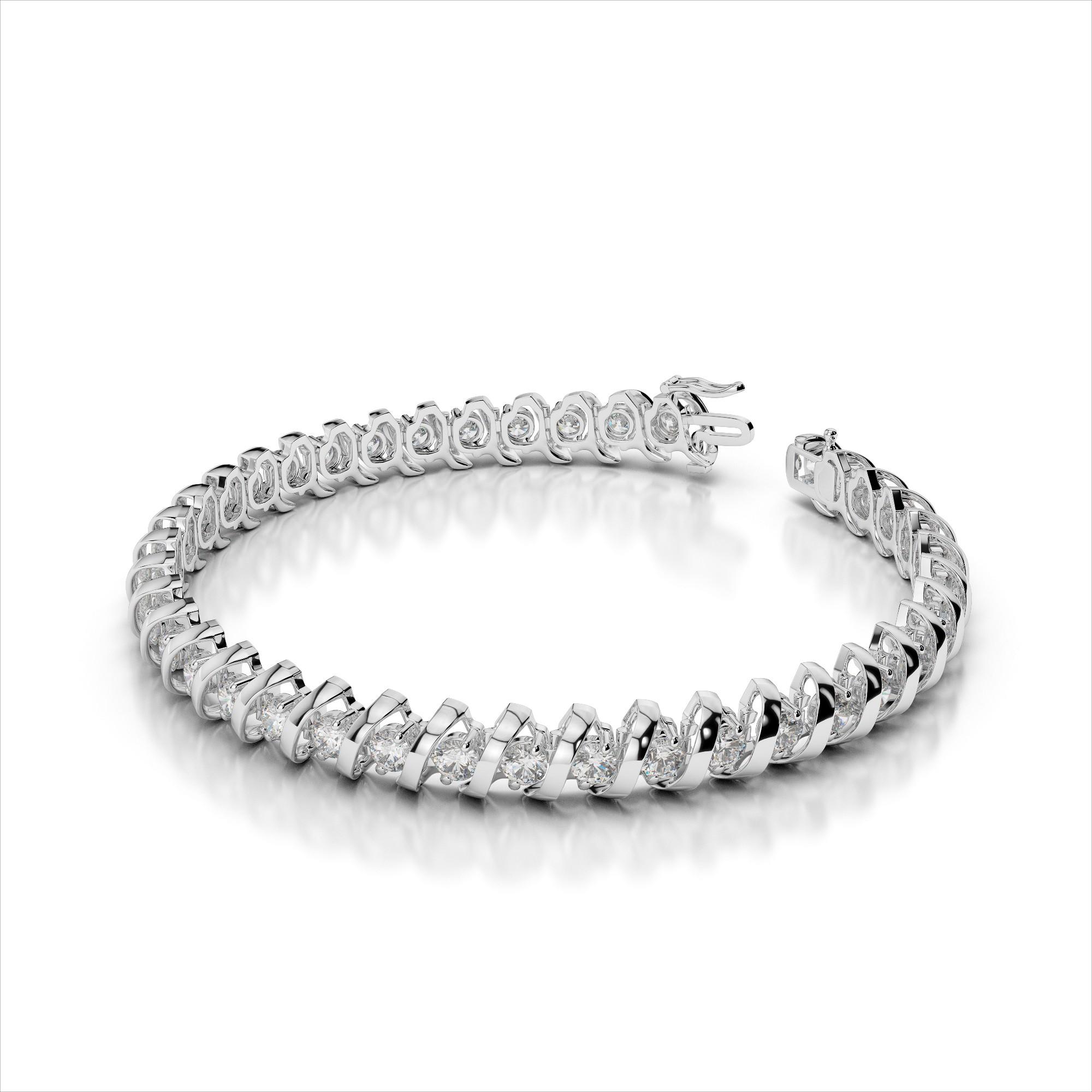 Diamond Bracelet with 'S' Link