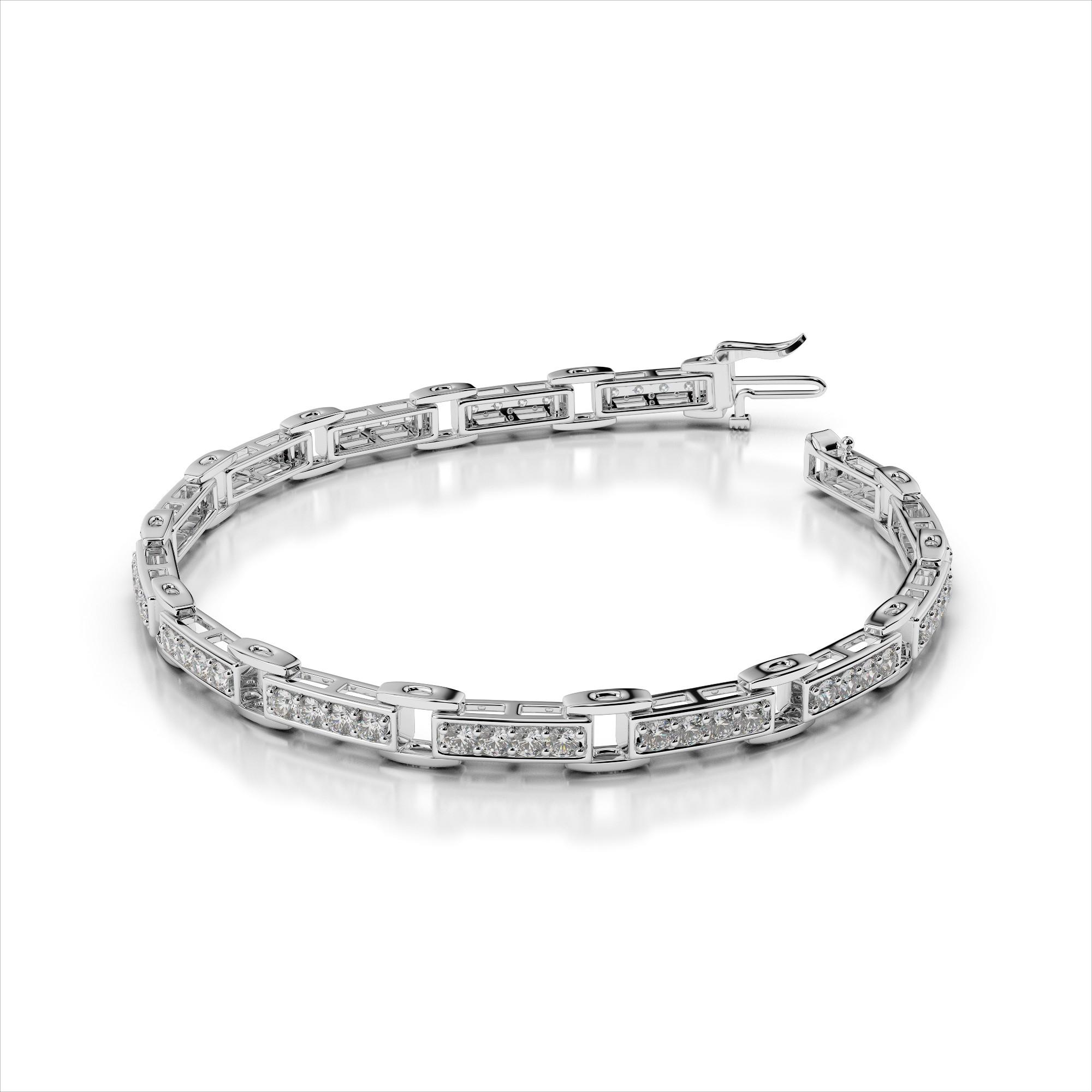 Four Diamond Link Bracelet