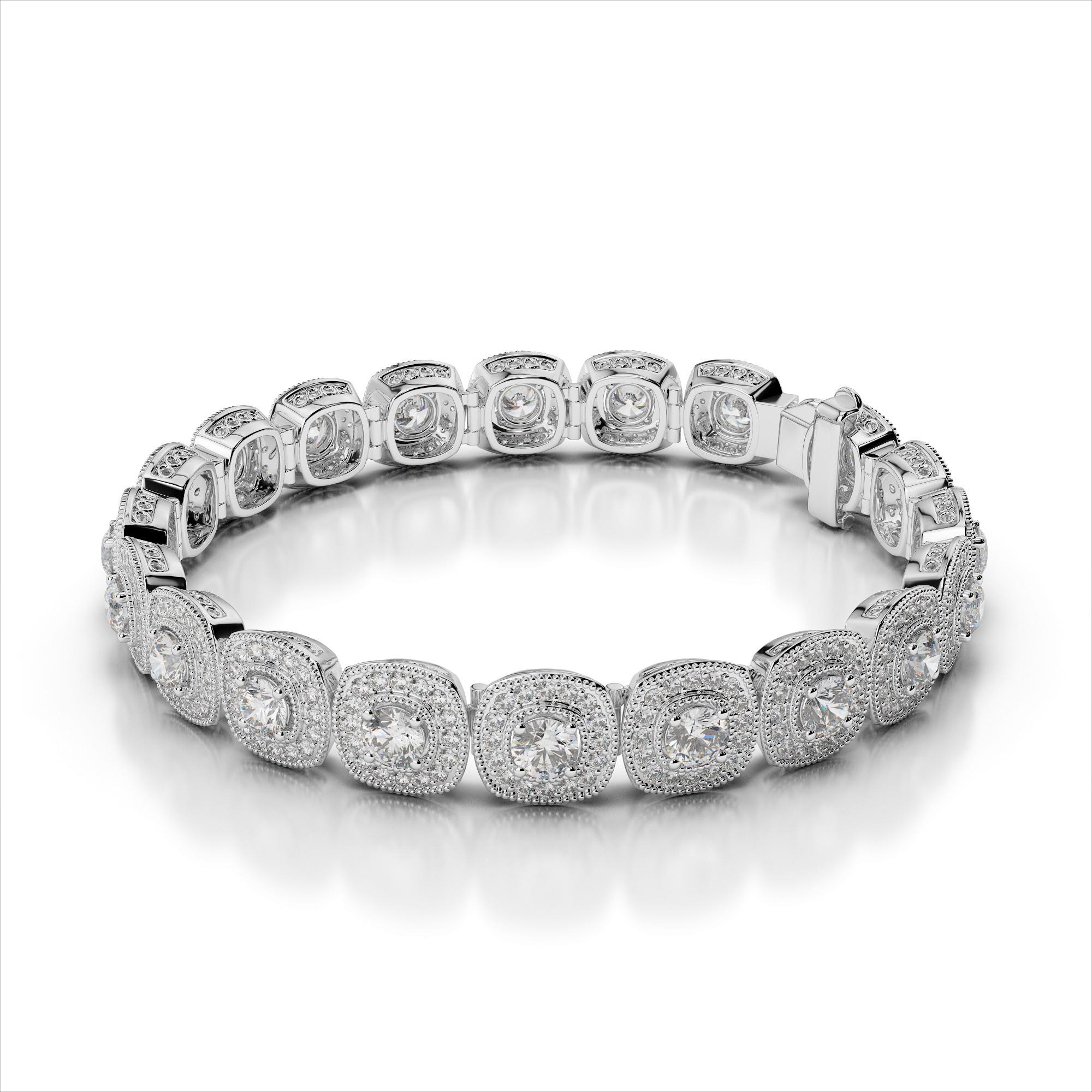 Diamond Halo Bracelet