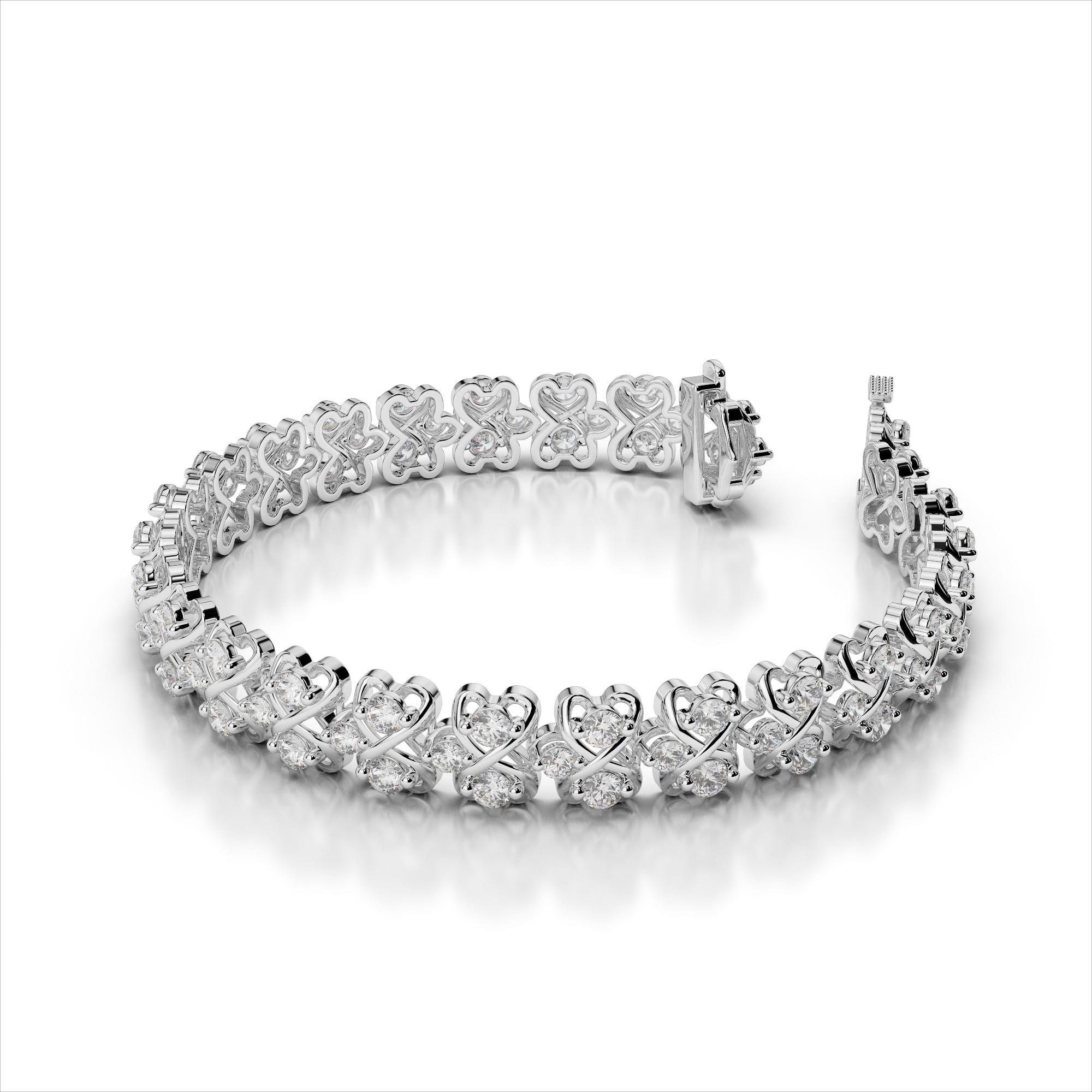 Diamond Eight Link Bracelet