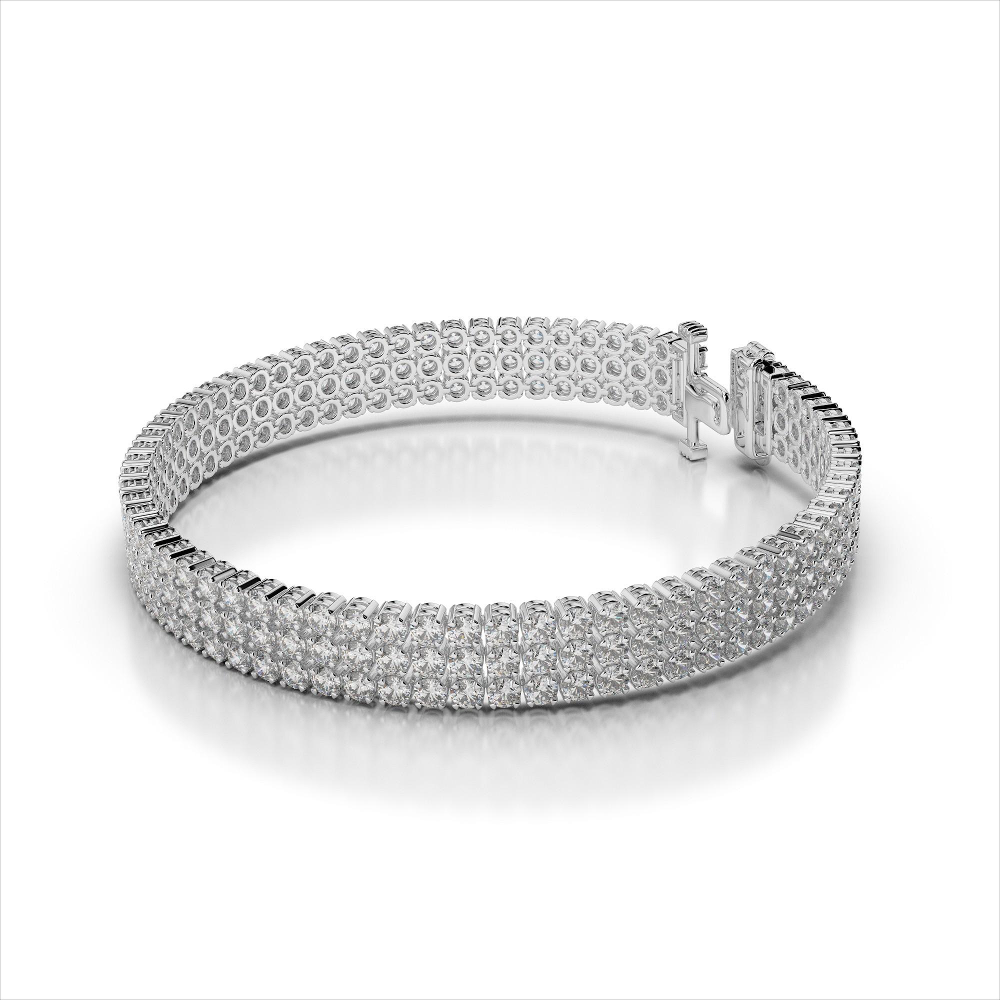Three Row Diamond Bracelet